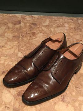 靴磨きの方法 茶色の靴