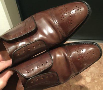 ニュートラルクリームで靴磨き【茶と比較】
